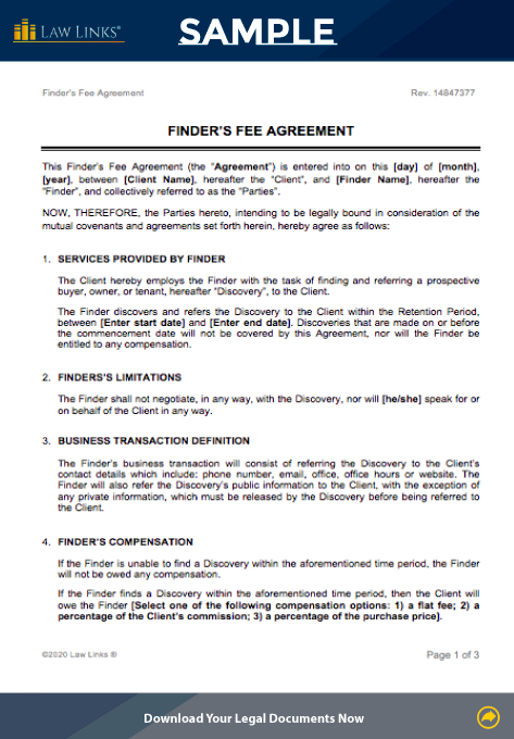 finders fee agreement